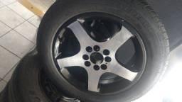 Roda aro 15 universal com pneu