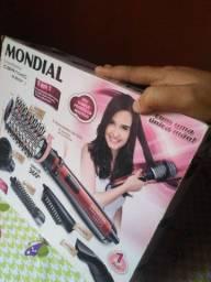 Escova eletrica Mondial de cabelo completa na caixa