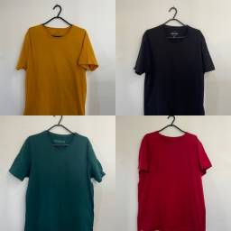 Título do anúncio: 4 Camisas Básicas: RENNER TAM: M