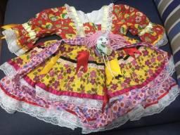 Vestido de festa junina tamanho 4