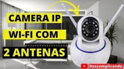 Câmera Ip 720p P2p Hd Wireless 2 Antenas Hd Wifi Hd