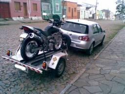 Carretinha P/moto - Engatcar C/estepe