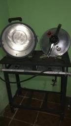 Fogão industrial e Panela de Pressão 30 Litros