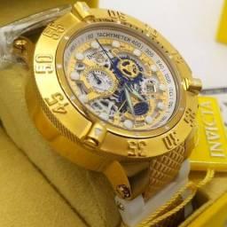 Relógio invicta subaqua noma lll skeleton - 18528 original banhado a ouro 18k, usado comprar usado  Serra