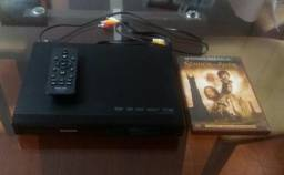 Aparelho de Dvd Philips com controle remoto + filmes de brinde