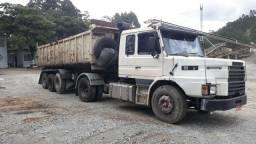 Scania com carreta caçamba basculante