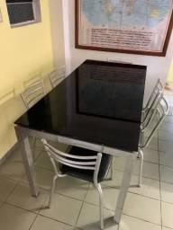 Mesa c/ 6 cadeiras alumínio