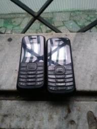 2 celulares lg de botão
