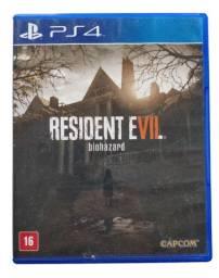 Jogos PS4 fisica Resident Evil 7 Não é Digital Capa Azul RE7