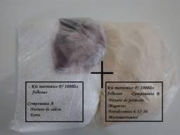 Kit 1000 lts solução nutritiva- Alface- Hidroponia