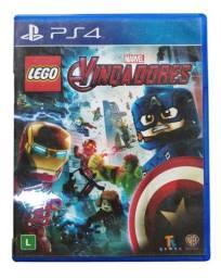 Jogo Ps4 Usado Lego Marvel Vingadores Capa Azul Game PS 4