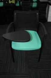 Cadeira c/ Apoio em Tecido e Plástico Azul Dobrável