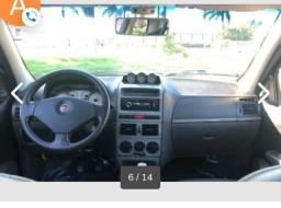 Fiat Strada banco de couro preto