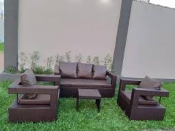 Sofá elegante e confortável em Fibra!!!