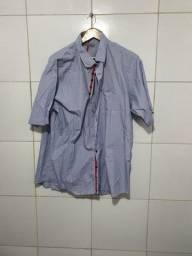 Camisas Fascynios classic fio 80 puro algodão, Tamanho: Extra G, ambas listradas