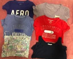 Cinco blusas Aeropostale+brinde