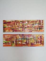 Par de quadros abstratos