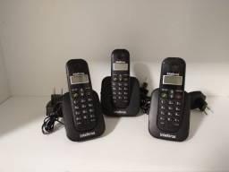 Conjunto de Telefones c/fio e s/fio