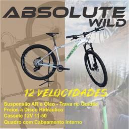 Bicicleta Nova Aro 29 12v + Suspensão a AR + Trava Guidão + Freios Hidráulico