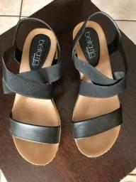 Sapato anabela beira rio 37