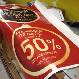 Título do anúncio: Adesivo promocional e placa