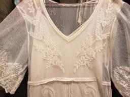 Título do anúncio: Vestido Zara Off White rendado