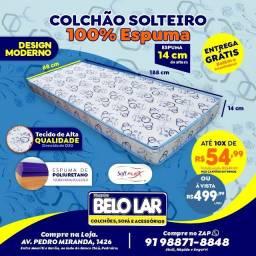 Colchão Solteiro De Espuma, Compre no zap *