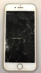 Iphone 7 rose - tela quebrada