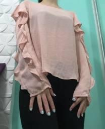 Título do anúncio: Blusa rosa babados