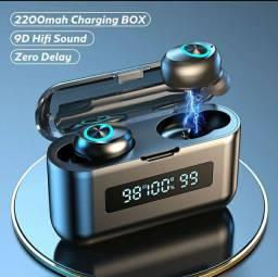 Fone de Ouvido Bluetooth TWS Painel Led (Bateria Longa Duração)
