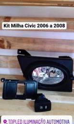 Kit Farol de Milha Honda Civic 2006 a 2008