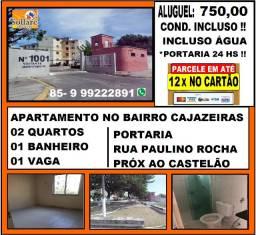Alugo Apartamento no Bairro Cajazeiras Com 02 Quartos , Em Avenida !!
