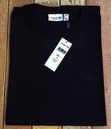 Camisa lacoste básica preta