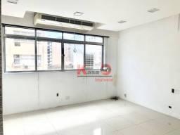 Título do anúncio: Sala para alugar, 126 m² por R$ 4.000,00/mês - Centro - Santos/SP