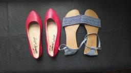 Sandália e sapatilha lote