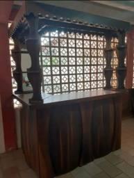 Bar clássico de canto de IMBUIA..