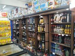 Adega para bebidas 2,72m em madeira Cristal Aço Novo Frete Grátis