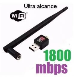 (NOVO) Placa Usb Wifi para Pc Notebook 1800 mbps