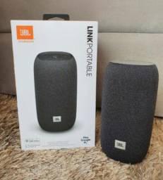 Caixa De Som Portátil JBL Link Portable À prova d'água - C/ Wi-fi e Bluetooth - Cinza