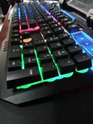 Teclado Gamer Rgb Hoopson Mj60 Led Pc Anti-ghosting