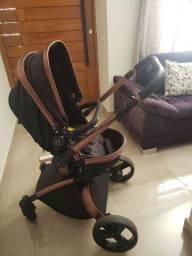 Vendo carrinho de bebê e bebê conforto Dzieco Vulkan 360°