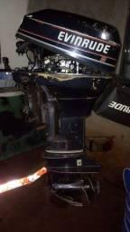 Motor de popa 15hp evinrude ano 93 revisado! Hélice reserva...