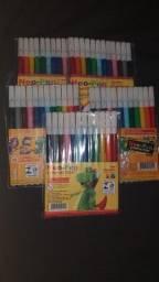 Kit com 4 pacotes de canetas Hidrográficas