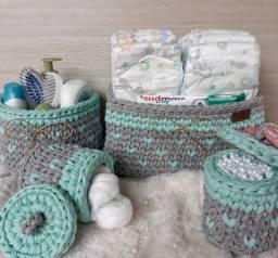 Kit higiene, organizador higiênico para bebê