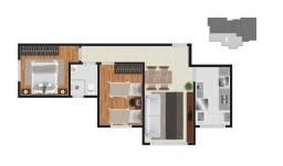 Apartamento à venda, 2 quartos, 1 vaga, Gutierrez - Belo Horizonte/MG