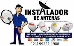 Instalação de todas antenas