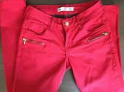 Calça Vermelha Nova - Loja Cea - Tamanho 36 - R$ 20,00