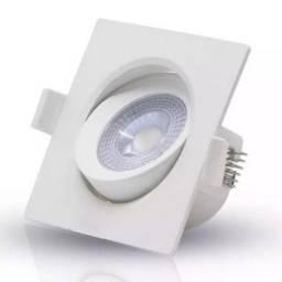 Título do anúncio: Spot Led 7w Quadrado Direcionavel Branco Frio ou Quente - Mega Iluminação