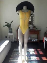 Maiô/body exclusivo amarelo novo m