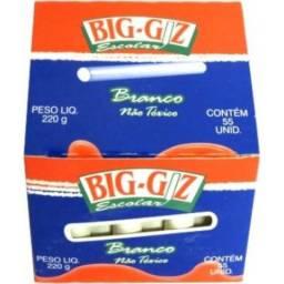 Giz Branco Para Quadro Negro 220gr Big Giz S/L caixa com 10